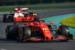 Charles Leclerc, Ferrari SF90 and Kimi Raikkonen, Alfa Romeo Racing C38