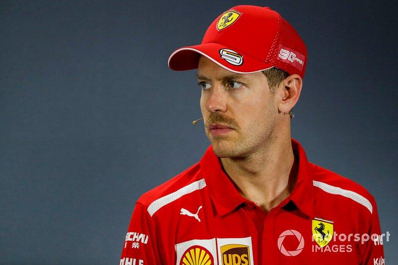 Sebastian Vettel, Ferrari in Conferenza stampa