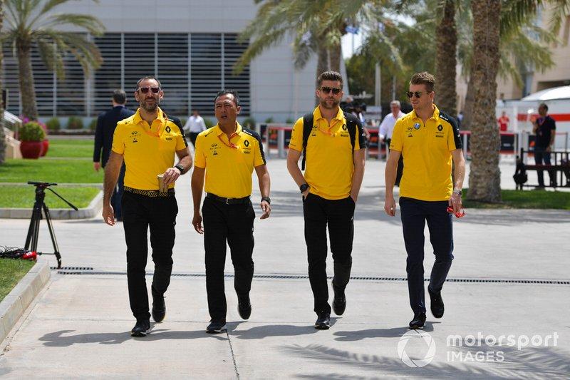 Cyril Abiteboul, CEO de Renault F1 Team y Nico Hulkenberg, Renault F1 Team