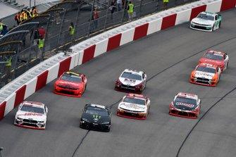 Landon Cassill, StarCom Racing, Chevrolet Camaro Superior Essex and Riley Herbst, Joe Gibbs Racing, Toyota Supra Monster Energy