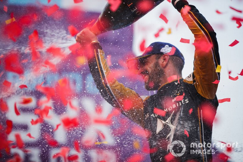 Jean-Eric Vergne, DS TECHEETAH, 1st position, celebrates