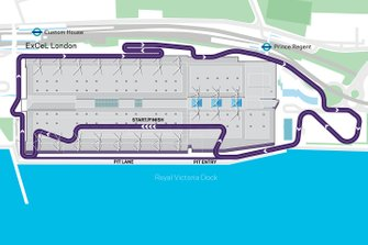 London E-Prix plattegrond