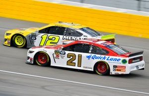 Ryan Blaney, Team Penske, Ford Mustang Menards/Pennzoil Ford, Paul Menard, Wood Brothers Racing, Ford Mustang Motorcraft / Quick Lane Tire & Auto Center