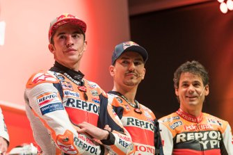 Alex Criville, Marc Márquez and Jorge Lorenzo, Repsol Honda Team