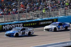 Alex Bowman, Hendrick Motorsports, Chevrolet Camaro Nationwide and Cody Ware, Petty Ware Racing, Chevrolet Camaro Jacob Companies