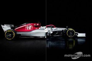 Comparación del Sauber C37 y Alfa Romeo C38
