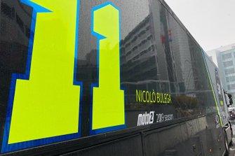 Nicolò Bulega, Sky Racing Team logo en un camión