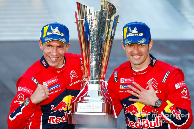 I vincitori Sébastien Ogier, Julien Ingrassia, Citroën World Rally Team Citroen C3 WRC