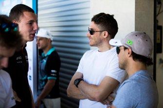 Felipe Massa, Venturi Formula E, and Edoardo Mortara Venturi Formula E talk to Raffaele Marciello, GEOX Dragon, Penske EV-3