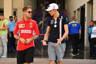 Sebastian Vettel, Ferrari and Esteban Ocon, Racing Point Force India