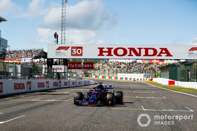 Brendon Hartley, Toro Rosso STR13, sur la grille