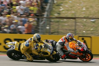 Nicky Hayden and Colin Edwards