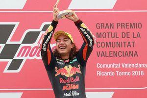 Podium: race winner Can Oncu, Red Bull KTM Ajo