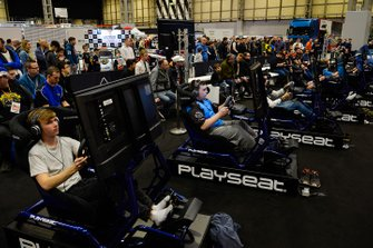 Esports stand during the Autosport International Exhibition