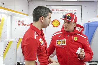 Kimi Raikkonen, Ferrari en Shell Track Lab