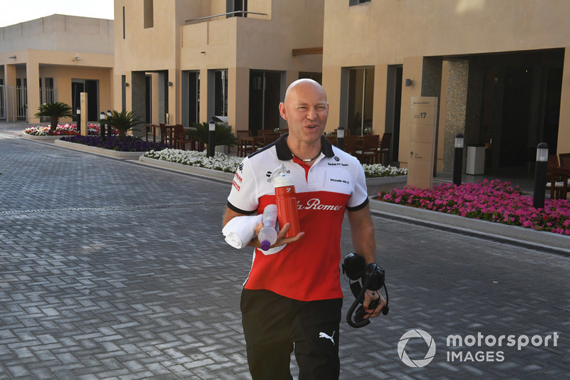 Mark Arnall, trainer to Kimi Raikkonen, Sauber
