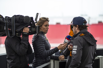 Fernando Alonso, McLaren talks with the media