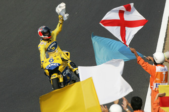 Ganador de la carrera Makoto Tamada, Honda