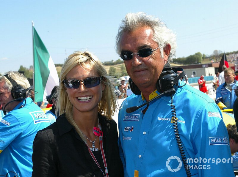 Flavio Briatore, Renault Team Principal with model Heidi Klum
