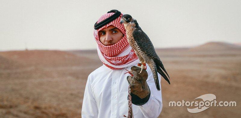 Il falconiere Abdulrahman Said Al Qahtani