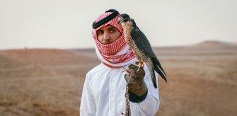 El halconero Abdulrahman Said Al Qahtani