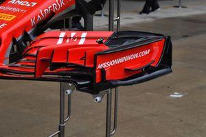 Vue détaillée de l'aileron avant de la Ferrari SF-71H