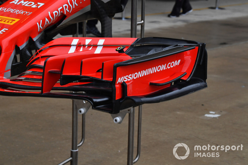 Ferrari SF-71H front wing detail