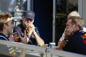 Adrian Newey, Chief Technical Officer, Red Bull Racing en Christian Horner, Team Principal, Red Bull Racing