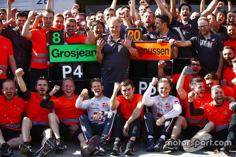 A Haas öröme a fantasztikus eredmény után az Osztrák Nagydíjon