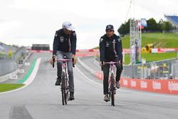 Sergio Perez, Force India and Esteban Ocon, Force India F1 on Wyndy Milla bikes