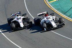 Charles Leclerc, Sauber C37 y Sergey Sirotkin, Williams FW41