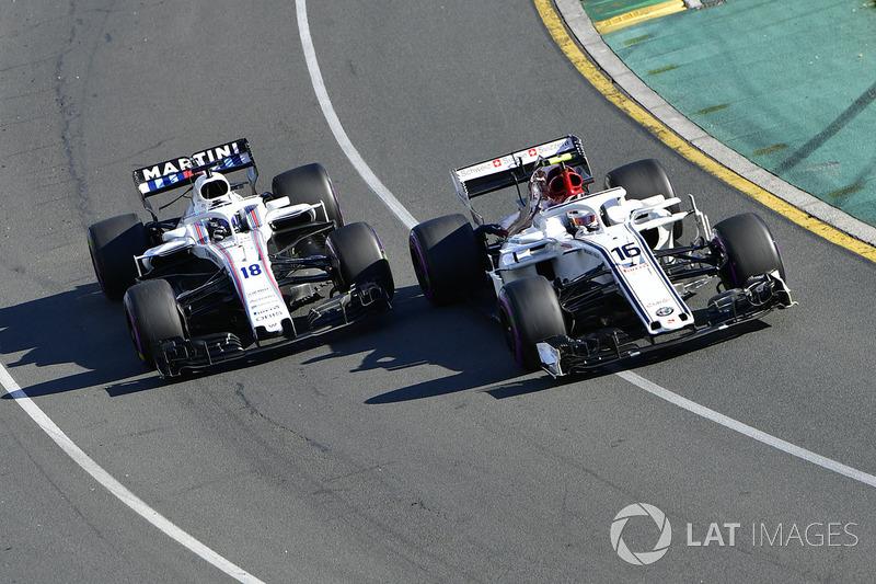 Charles Leclerc, Sauber C37 ve Sergey Sirotkin, Williams FW41