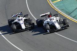 Charles Leclerc, Sauber C37 et Sergey Sirotkin, Williams FW41 bataillent