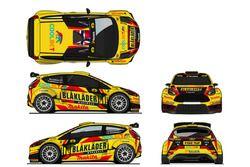 La livrea della Ford Fiesta R5 di Eyvind Brynildsen, Autotek Motorsport