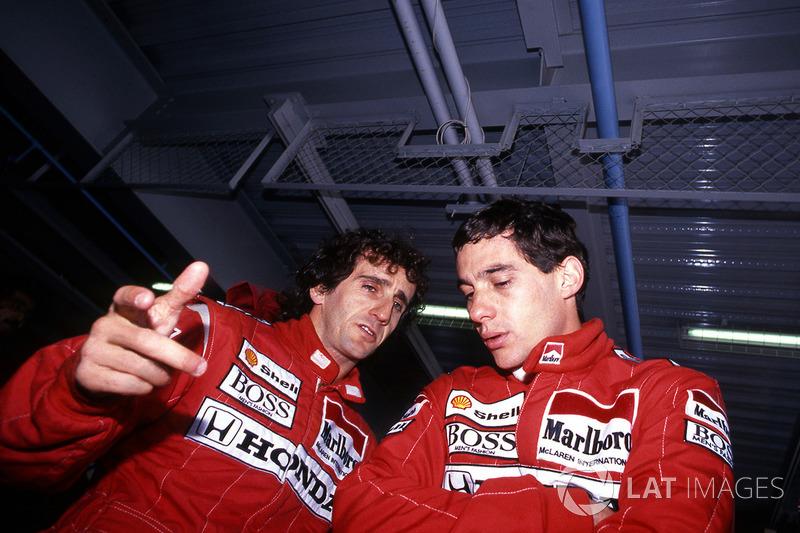 6. Ayrton Senna acabó el campeonato primero. Sin embargo, como John Surtees en 1964, fue campeón sólo por el sistema de descartes, en el que sólo los 11 mejores resultados (de las 16 carreras) contaban al final de la temporada. Al haber ganado más que Prost (8 a 7), cerró el año con 90 a 87 en puntos, aunque Alain, si contaran todas las carreras, habría sumado 105 por los 94 del brasileño.