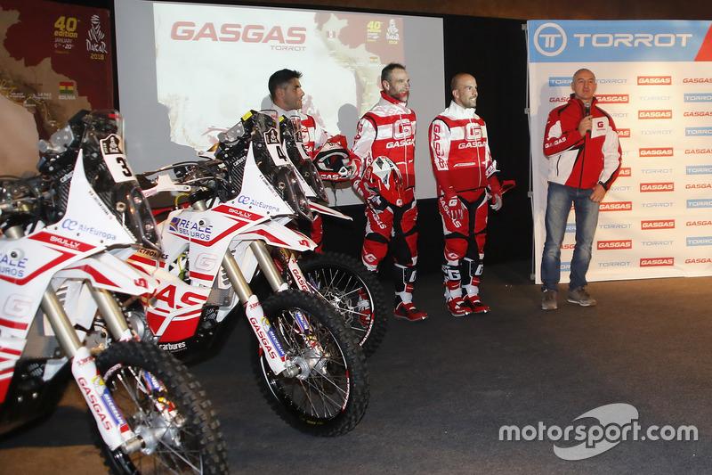 Johnny Aubert, Jonathan Barragán, Cristian España, GasGas Rally Team