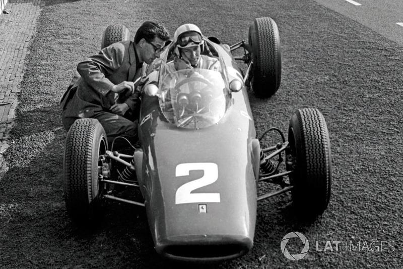 John Surtees, Ferrari 156 ve Ferrari şef tasarımcısı Mauro Forghieri