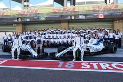Felipe Massa, Williams, Paul di Resta, Williams and Lance Stroll, Williams at the Williams team phot