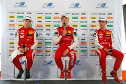 Press conference, Marcus Armstrong, PREMA Theodore Racing Dallara F317 - Mercedes-Benz, Ralf Aron, PREMA Theodore Racing Dallara F317 - Mercedes-Benz, Guanyu Zhou, PREMA Theodore Racing Dallara F317 - Mercedes-Benz