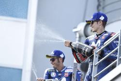 Podio: il terzo classificato Maverick Viñales, Yamaha Factory Racing