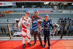 Podium: race winner Stefano Comini, Comtoyou Racing, second place Gianni Morbidelli, West Coast Raci