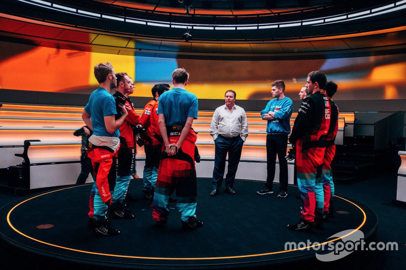 Zak Brown, Executive Director, McLaren Technology Group with McLaren World's Fastest Gamer participants