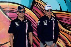 Sergio Perez, Force India y Esteban Ocon, Force India F1