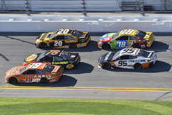 Daniel Suarez, Joe Gibbs Racing Toyota, Martin Truex Jr., Furniture Row Racing Toyota, Erik Jones, J