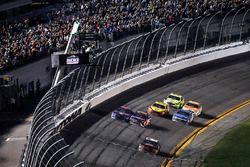 Austin Dillon, Richard Childress Racing Chevrolet Camaro, checkered flag, win