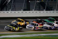 Justin Haley, GMS Racing Chevrolet Silverado leads