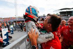 Nyck De Vries, PREMA Racing celebrates after winning the race