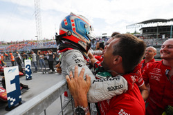 Nyck De Vries, PREMA Racing celebrates after winning the race