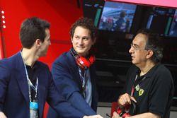 John Elkann, Chairman of FIAT, with Sergio Marchionne