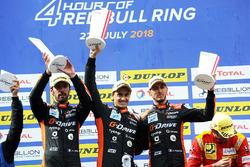 Podio: i vincitori della gara #26 G-Drive Racing Oreca 07 - Gibson: Roman Rusinov, Andrea Pizzitola, Jean-Eric Vergne,